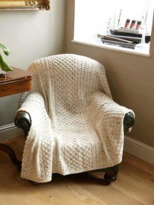 Honeycomb Wool Throw