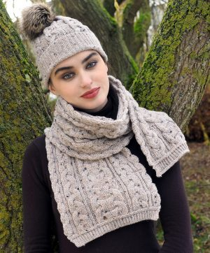 CHUNKY CABLE KNIT SCARF X4855