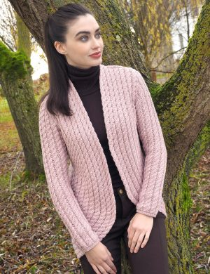 CABLE KNIT BOLERO CARDIGAN X4895