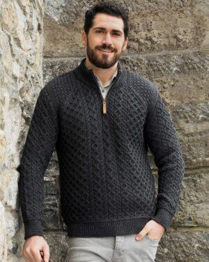 Aran wool sweater