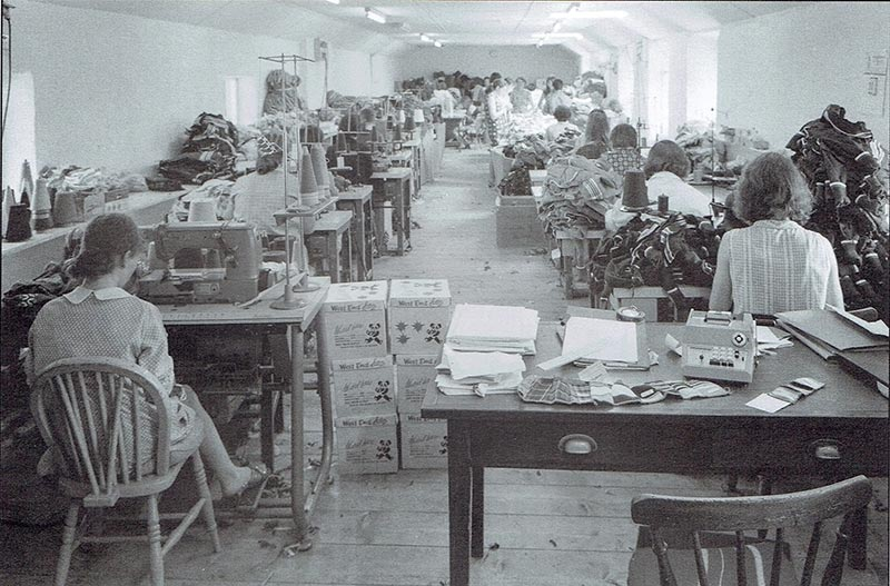Early days of West End Knitwear Ltd in the 1960's
